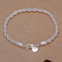 New Arrival Genuine Charm Whip Silver Twisted Rope Bracelet Thick Chain Link Ladies Gifts Top Quality H207