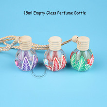 30pcs/Lot Wholesale Empty Glass 15ml Perfume Bottle Soft Clay Decorated With Rope 1/2OZ Chinese Style Refillable Cosmetic Vial(China)