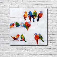Free Shipping Handpainted Oil Painting On Canvas Birds Painting Art Modern Palette Knife Hand Painted Wall Decoration Art  NP003