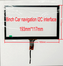 8 inch Car navigation, car computer I2C interface capacitive touch screen 193mm*117mm(China)