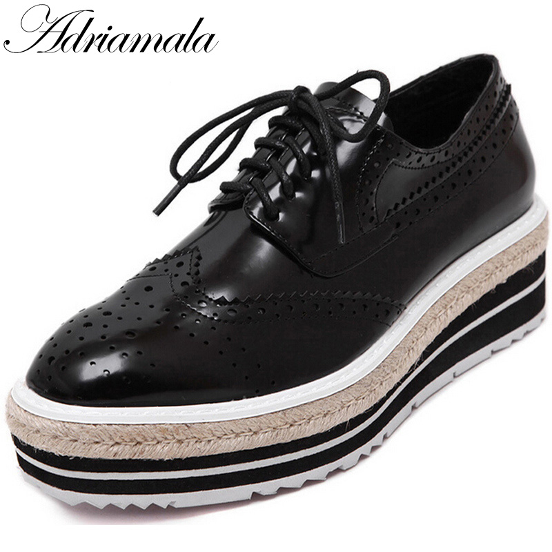 Adriamala Thick Bottom Muffin Women Shoe Casual Loafers Wedge Heels 2018 New Fashion Breathable Slip On Sexy Lazy Shoes Footwear<br>