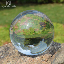 50mm Transparent Crystal Ball Clear Glass Ball Feng Shui Sphere Ornaments Globe Figurines Miniatures For Gifts Home Decor