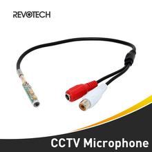 High Quality Adjustable Mini Audio CCTV Microphone Surveillance Wide Range Sound Pickup Audio Monitor for Security Camera