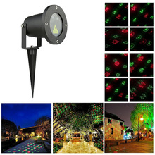RG 12 Patterns Outdoor Laser star Light Red Green Christmas Lights Garden showers Projector Outdoor Waterproof motion Xmas Tree