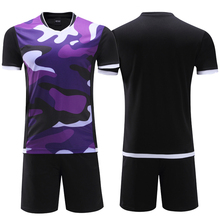 2017 polyester kids soccer jerseys sets blank boys football team kits uniforms breathable men soccer training jersey suit design(China)