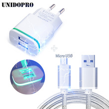 Dual USB EU Travel Charger + 3FT Micro USB Cable for UMiDiGi C Note , UMI Rome X/Touch X/ Rome/eMax mini/Iron/ X3/ Hammer / eMAX