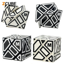 ZCUBE M 3x3x3 Magic Cube Hollow Sticker Magic Cube Speed Cubo Magico Kid Educational Toy Puzzle Game Gift ,6 Colors Choosed -48(China)