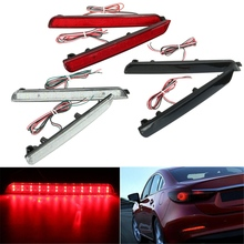 2x 24 LED Rear Bumper Reflectors Tail Brake Stop Running Turning Light For Mazda 3 04-09 Parking Warning Night Driving Fog Lamp(China)