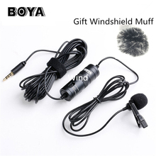 BOYA BY-M1 Omnidirectional Camera Lavalier Condenser Broadcast Microphone Professional for DSLR Camcorder iPhone 7 6 6s Recorder