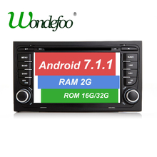 Android 7.1 CAR DVD GPS For Audi A4 with dvd player RAM 1G/2G ROM 16G/32G radio stereo screen multimedia auto navigation Audio