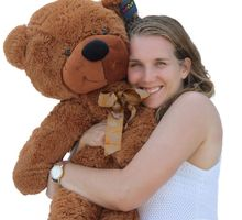 "Joyfay 100cm 1m 39"" Brown Giant Teddy Bear Big Stuffed Plush Animal Huge Soft Toy Best gift for Birthday Valentine Anniversary"