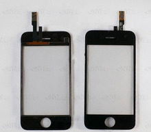 Original replacement For iPhone 3GS touch digitizer lcd screen glass with flex cable 1 piece free shipping