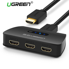 Ugreen 3 Port HDMI Switch Switcher HDMI Splitter HDMI Port for XBOX 360 PS3 PS4 Smart Android 1080P 3 Input to 1 Output Adapter(China)