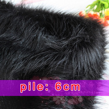 "Black Solid Shaggy Faux Fur Fabric long Pile fur Costumes Cosplay Backdrops 60"" wide Sold By The Yard Free Shipping"