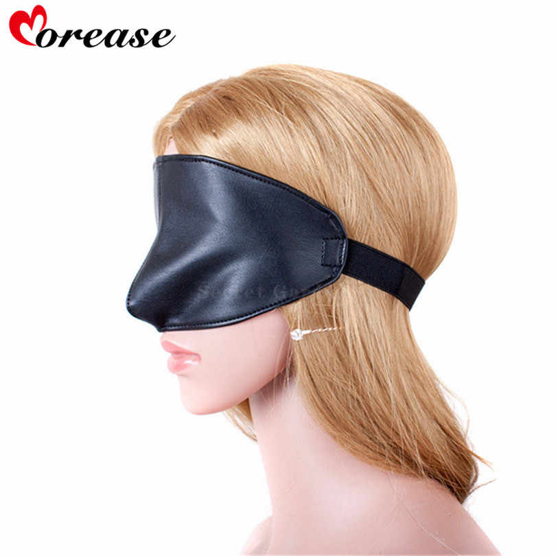 soft black bdsm bondage blindfold eye mask for men and women