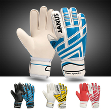 Thick Proessional Soccer Goalkeeper Gloves Breathable Football Gloves Protector LATEX Palm Black Blue Goalkeeper Gloves L171