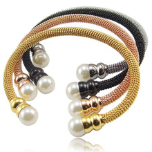 love Vintage pearl bangle bracelets bangles jewelry titanium for women filled stainless steel luxury bangle in india