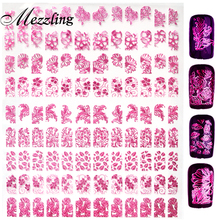 Hight Quality New Fashion 3d Rose Nail Art Stickers Decals,108pcs/sheet Stylish Mix Design Metallic Nail Tips Decoration Tools