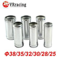 VR RACING - Alloy Aluminum Hose Adapter Joiner Pipe Connector Silicone 25mm or 28mm or 30mm or 32mm or 35mm or 38mm color silver