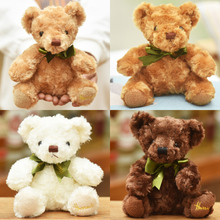 10pieces a lot lovely  teddy bear toy colourful plush high quality teddy bear toy birthday gift doll about 20cm