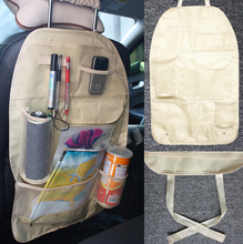 30% OFF Car Cooler Bag Seat Organizer Multi Pocket Arrangement Bag Back Seat Chair Car Styling car Seat Cover Organiser(China)
