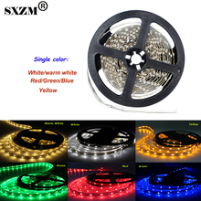 SXZM 3528 led strip 5M/roll 60led/M led strips SMD 3528 DC12V safe led bar light RGB/white/warm white  RoHS CE