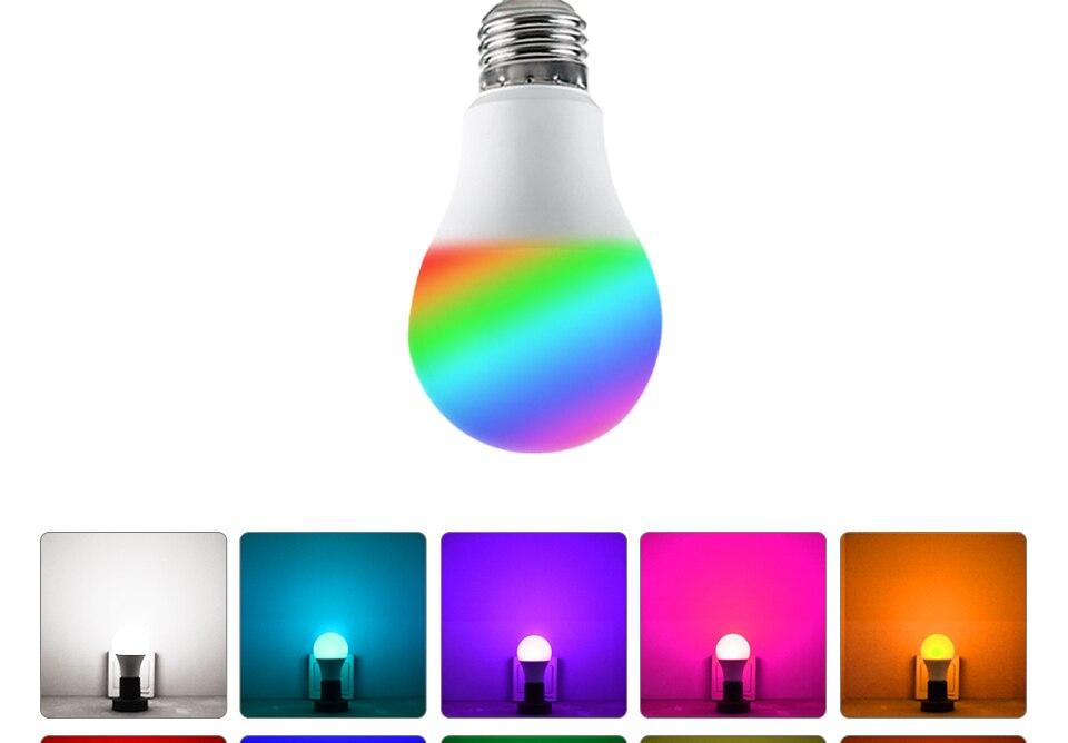 Foxanon E27 RGBW RGBWW 85-265V Led Lamps 10W LED Bulb Lamp 24Keys Remote Controller Colorful Night Light Home Lighting Decor_04