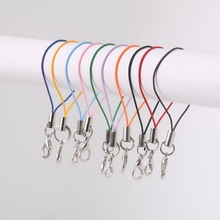 Wholesale 100PCs Cell Phone Fashionable Lanyard Strap Cords Mobile Lobster Clasp Hook Jewelry Findings cords FXQ008-01
