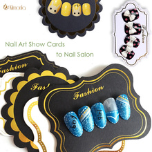 Mix 10 Designs Nail Gel Polish Photo Frame Display Pre-designs False Nail Tips Show Cards For Nail Beauty Tips DIY Salon Tools