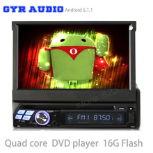 Quad core Universal one Din Android 5.1 Car Head unit DVD radio Player GPS Navigation pc table Bluetooth car stereo free map(China)