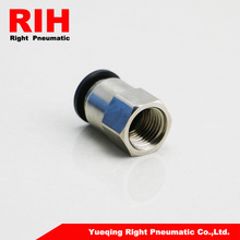 20pcs of RIH brand PCF Female Thread Direct Connection RPCF10-02 with black cap and brass nickel body(China)