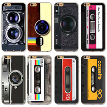 Cover For Apple iPhone 4 4s 5 5s 5C 6 6s 6 Plus Retro Camera Tape Style Old Funny Design Soft Sillicon Clear TPU Phone case bags