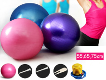 pvc 65cm yoga Pilates ball gym exercise practice training balls indoor therapy massage Fitness lose weight