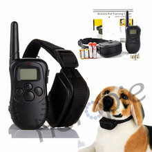 Heropie 300M Waterproof Dog Training Behaviour Aids LCD 100LV Yard Level Electric Shock Vibration Remote Pet Dog Training Collar(China)
