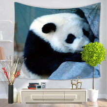 Hot sale Animal Panda Tapestry Hippie Wall Hanging decoration towel outdoors Sports Swimming Camping Bath Summer Beach Towels