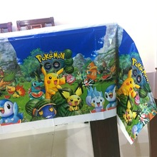 1pcs 108*180cm Pokemon Go theme tablecloth party supplies tablecover favor kids birthday party decoration