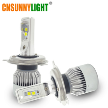 CNSUNNYLIGHT Car LED Headlight Bulbs H4 Hi/Lo Beam 70W 9000LM 6000K Super White Auto Head Lamp Off Road Running Lights 12V 24V(China)