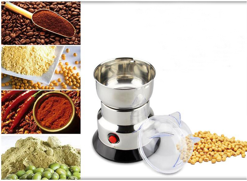 Stainless steel grinder Chinese herbal medicine grinder Grain seasoningmilling machine Coffee bean grinder 150W 220V<br>