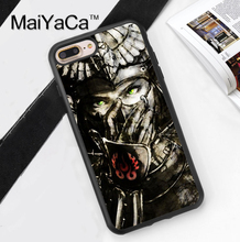 Japan Samurai Mask Style Soft Rubber Back Case Cover For iPhone 6 6S Plus 7 7 Plus 5 5S 5C SE 4 4S Mobile phone bag
