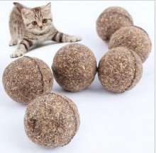 1PC Pet Cat Toys Ball Natural Catnip Treat Ball Favor Home Chasing Toys Healthy Safe Edible Treating For Cat Kitten(China)