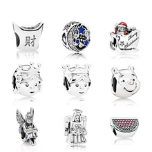CPPO 100% 925 Sterling Silver ingot Pandoras bead watermelon Charm Vehicle Beads Fit DIY charms Original bracelet Free mail(China)