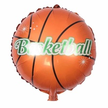 2pcs/lot football Foil balloons kids birthday party decoration basketball design foil balloons football theme party supplies