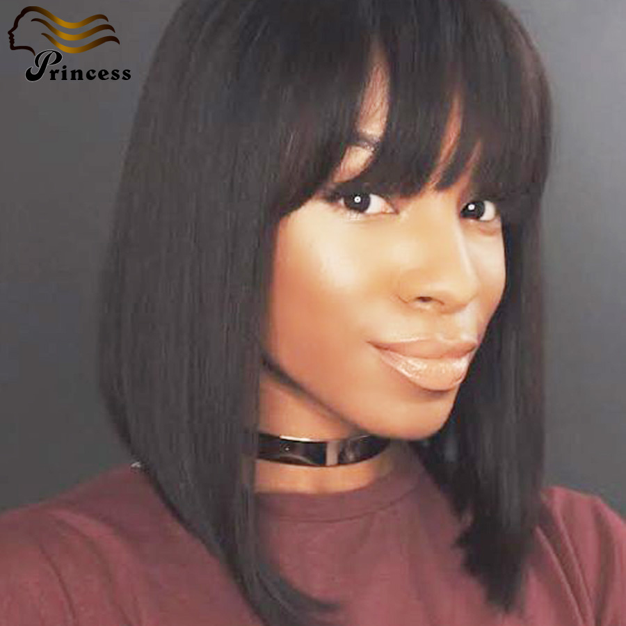 Best Quality Malaysian Silky Straight Full Lace Wigs Unprocessed Human Hair Wigs With Bangs Glueless Lace Front Human Hair Wigs<br><br>Aliexpress