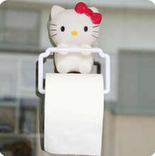 japan style cute tissue box High quality plastic can be used in toilet hello kitty white tissue canister