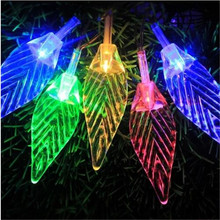 8M 50 LED Tree Leaves Christmas String Lights Battery Operated Fairy Light for Wedding Party Outdoor Home Garland Decorations