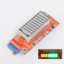 3-color Battery Capacity Indicator Module Colorful Battery Level Tester 10 LED Display Meter For Lithium Battery Lead Acid(China)