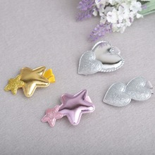 Lovely PU Leather hair clips girls hair accessories Girl Baby Kids Hair Clips Heart Children Hairpin(China)