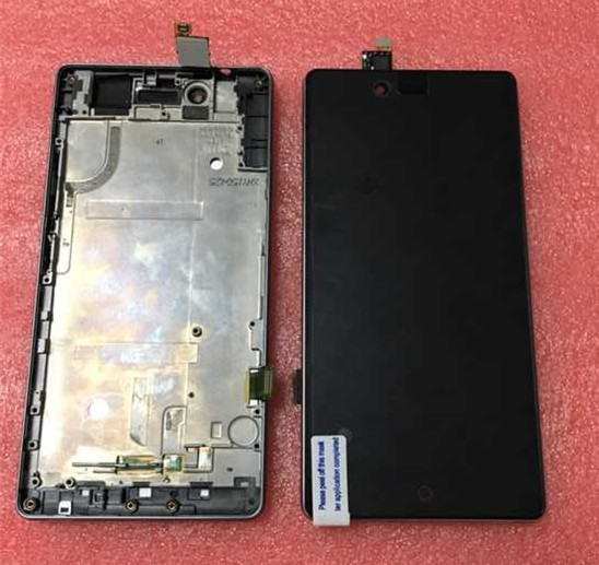 100% tested Lcd screen display+Touch digitizer with frame For ZTE Nubia Z9 mini NX511J black free shipping<br><br>Aliexpress