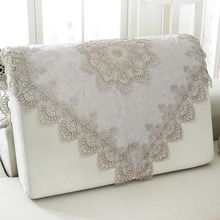 1 Piece Korean Light Gray Lace Sofa Cover/ Four Seasons General Sofa Armrest Towel/ Summer Home Sofa Backrest Towel