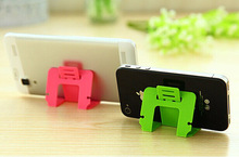 2pcs/lot Hot sales Foldable Mobile Phone Holder For iPhone5s 6 for Samsung Universal Mobile Phone Card Type Stand Stents